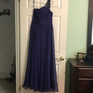 Purple/Royal blue Betsy & Adam A-line Gown